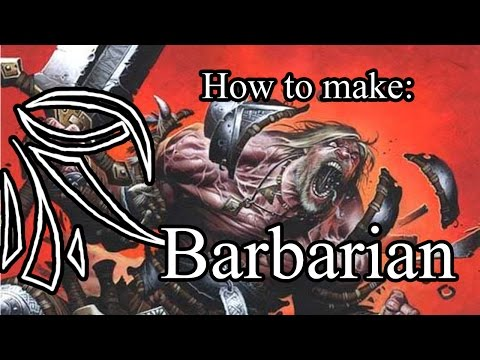 How to make Barbarian (Half-orc,LVL-1) [D&D 5e]