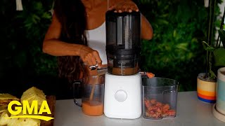How to make a delicious pineapple and ginger Autumn smoothie l GMA