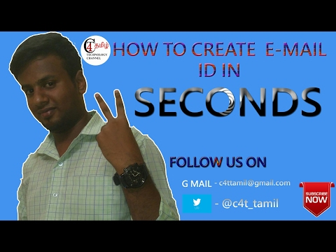 How to create email id in 2 Seconds easily in Tamil?
