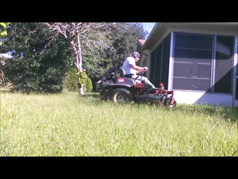 Mowing An Overgrown Empty House September 16TH 2016