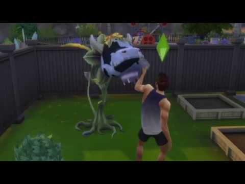 Sims 4- Fishing For a Cowplant~ Growing and Milking