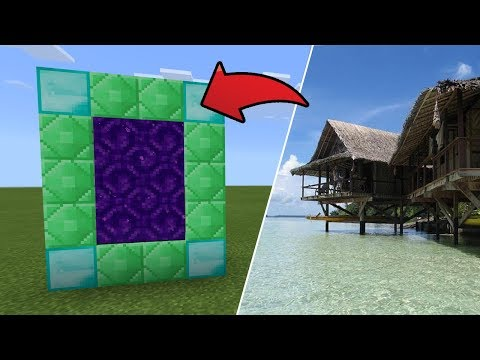 How To Make a Portal to the Island Retreat Dimension in MCPE (Minecraft PE)