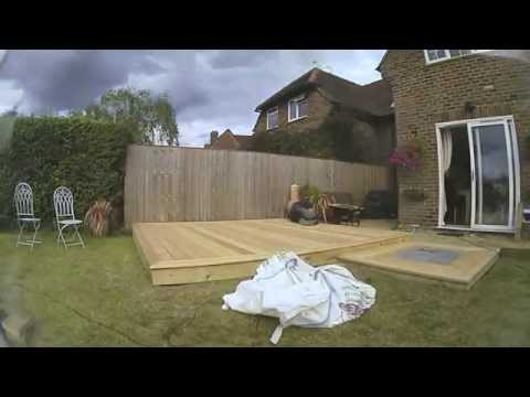 Landscaping decking construction time lapse