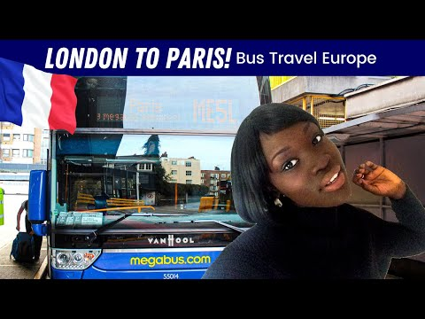 EP #49 | MEGABUS JOURNEY - LONDON TO PARIS  🇫🇷 MOVING TO FRANCE!