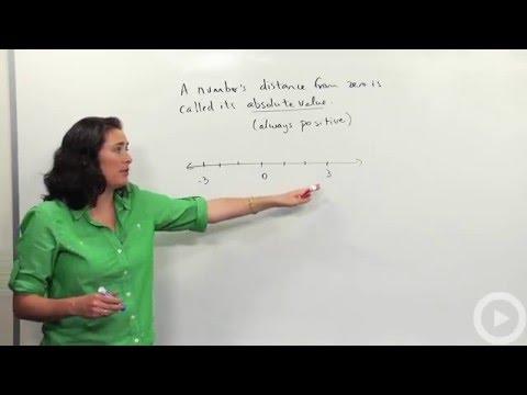Absolute value - Integers - Brightstorm Pre-algebra