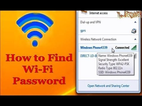 How to find your WiFi Password in any Windows Computer Easy & 100% working Free
