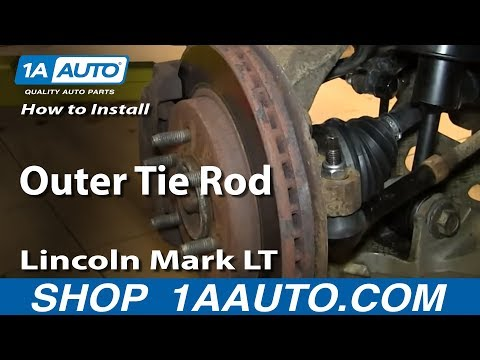 How To Install Replace Outer Tie Rod 2004-08 Ford F150 Lincoln Mark LT