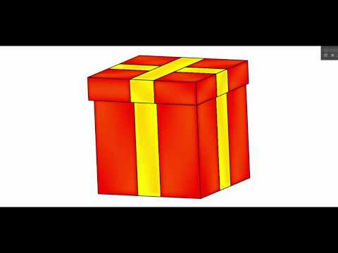 Gift box, present - Adobe Illustrator tutorial. Quick and easy way to draw vector box using 3d tool.