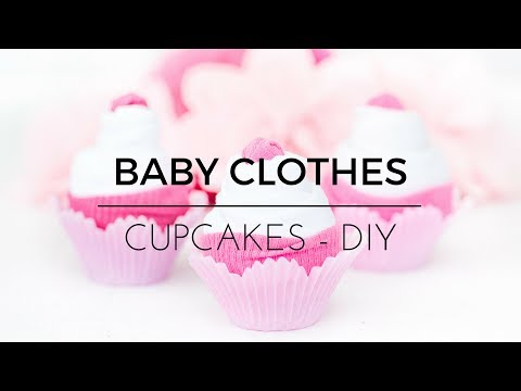 Baby Clothes Cupcakes - DIY Tutorial on How to make a Onesie Cupcake