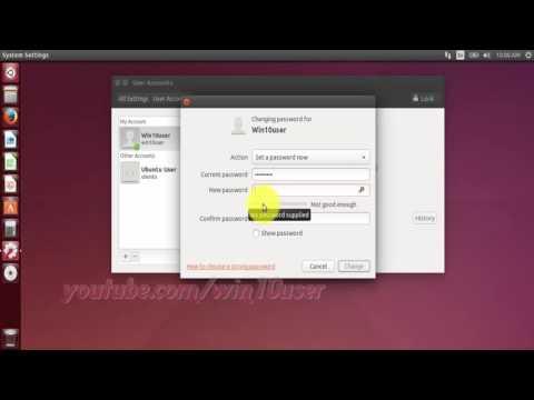 Ubuntu : How to Change Account Password