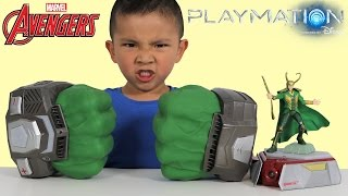 Disney Toys Playmation Marvel Avengers Hulk Hands Gamma Gear Pack Superhero Kids Ckn Toys