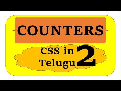 Counters in CSS in Telugu Part 2 by Kotha Abhishek