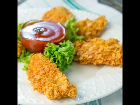 Cornflake Crusted Chicken Strips