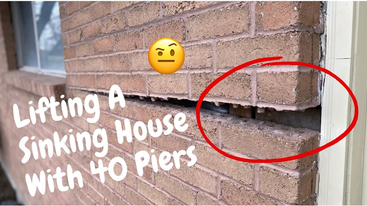 Foundation Repair On A Sinking House With 40 Push Piers