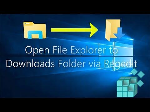 Open File Explorer to Downloads Folder by Default