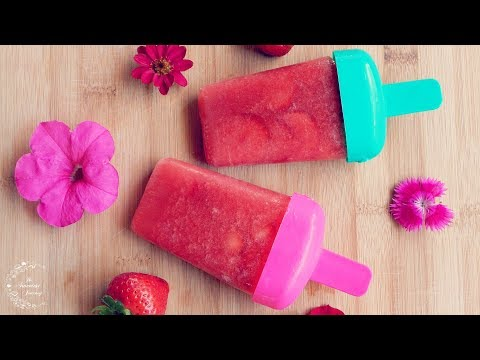 2 Ingredient Fruit Popsicles | Summer Recipes | The Sweetest Journey