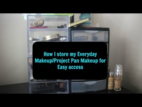 How I store Everyday Makeup for easy Access