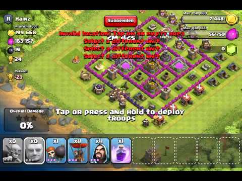 Clash of clans 193k gold rage spells finally!