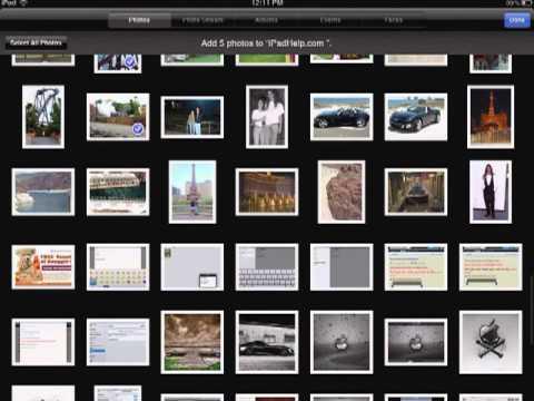 How to arrange photos on iPad
