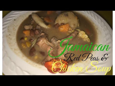 Vlog   Cooking Jamaican Red Peas Chicken Soup With My Dad