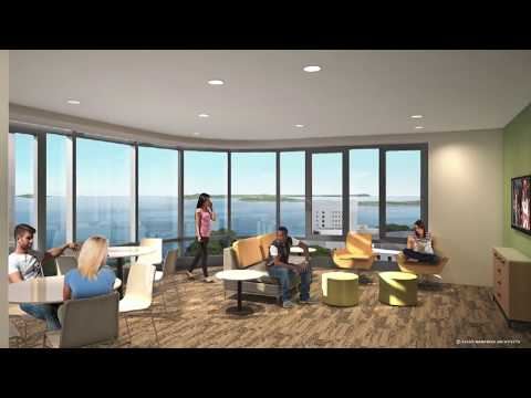 Picture Yourself in the 12th Floor Lounge of the New Residence Halls