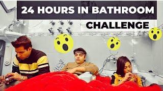 LIVING IN BATHROOM FOR 24 HOURS | Rimorav Vlogs