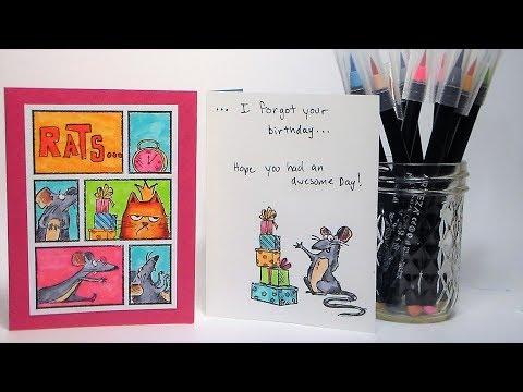 Belated Birthday Card //  Rats...I Forgot Your Birthday!