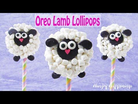 Oreo Lamb Lollipops