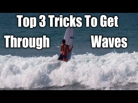Top 3 Tricks to Get through Waves on a longboard Surfboard