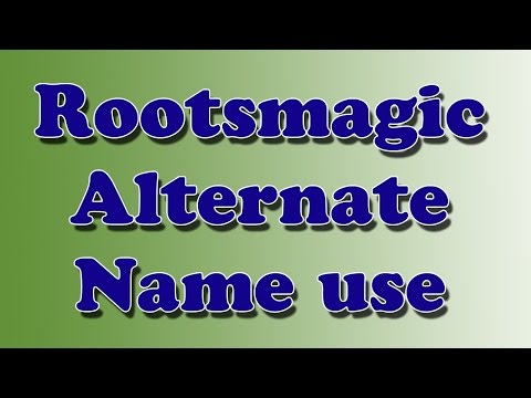 Rootsmagic Alternate Name fact use in genealogy