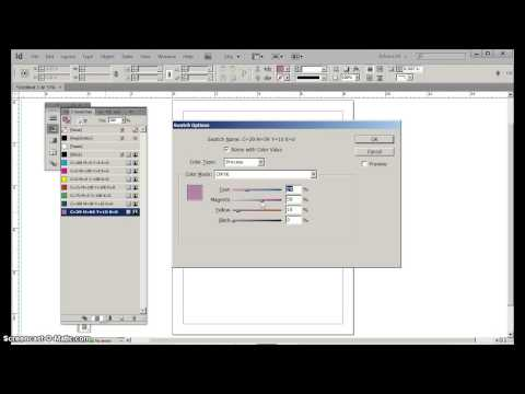Adding & Changing Colors in InDesign CS6