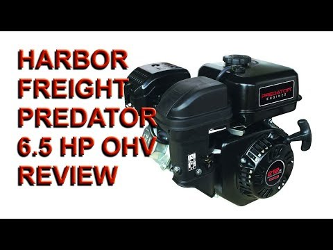 HARBOR FREIGHT 6.5 OHV Horizontal Shaft Gas Engine review and Go-cart Project Part #1