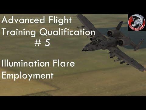 DCS - A10c - Advanced Flight Training Qualification - 05 - Illumination Flare Employment