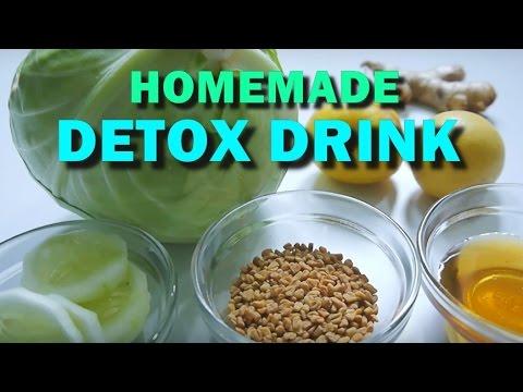 Homemade Detox Drinks for Weight Loss   Body Slimming Detox Water Recipe