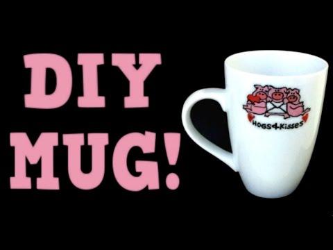 DIY MUGS! Brand NEW Idea! Use SHARPIES or PAINT! Dishwasher Safe! No Baking!