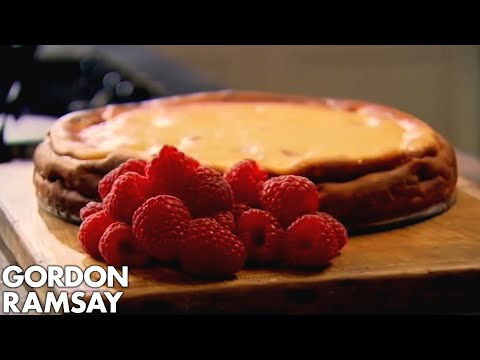 Baked Raspberry and Lemon Cheesecake - Gordon Ramsay