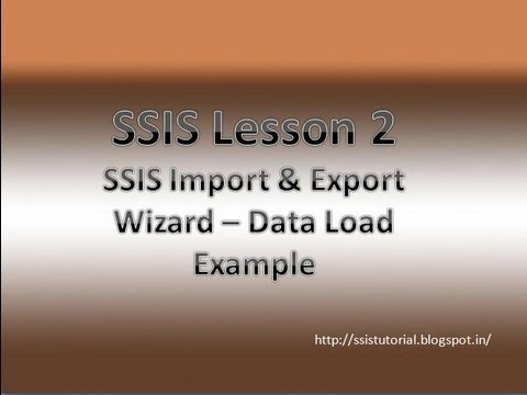 SSIS Lesson 2 - Load data from excel file into sql server table