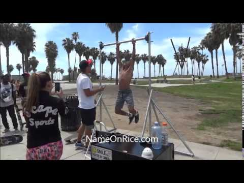 IMPOSSIBLE TO HOLD BAR 2 MIN TO WIN $100  VENICE BEACH CA APRIL 30, 2015