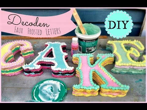 DIY Decoden Faux Frosted Cake Letters!