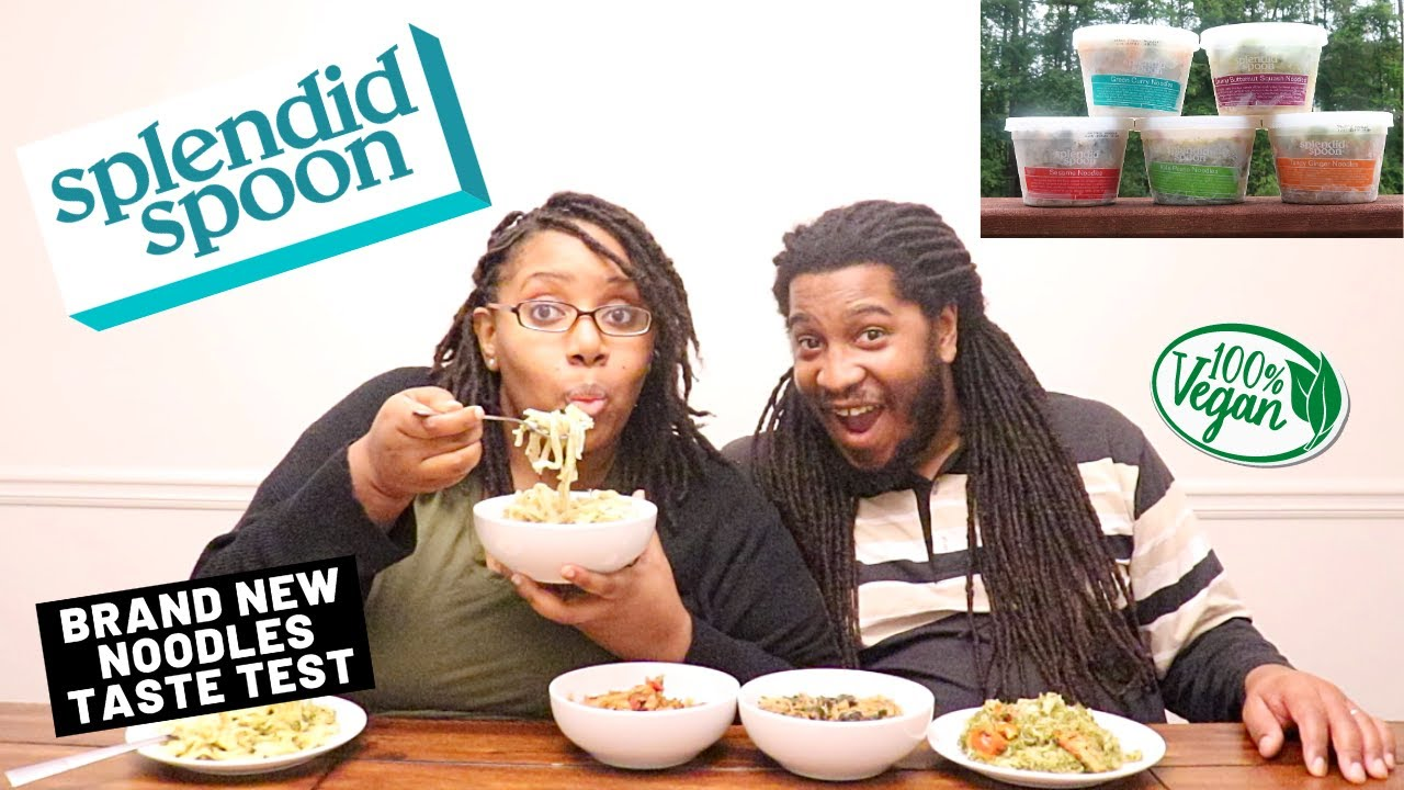 We Tried NEW Vegan Noodles! | HEALTHY MEAL DELIVERY | Splendid Spoon Taste Test & Review