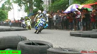 GANASNYA 2 MOTOR MAHKOTA RACINGTEAM DI RACE 2TAK 120CCC KELAS PARA JAWARA BEBEK GORENG