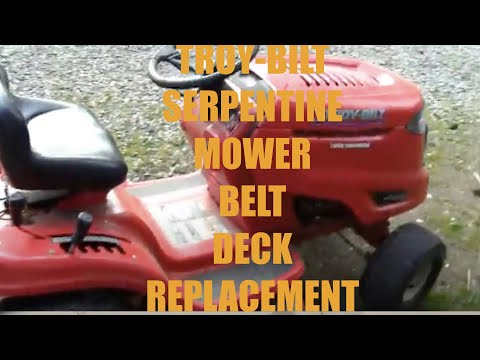 How To Replace Troy-Belt Riding Lawnmower Deck Serpentine Belt
