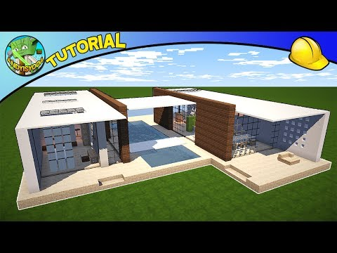 Andyisyoda Builds a Modern House! - How to Build a House in Minecraft