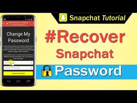 How to Recover Snapchat Password 2017
