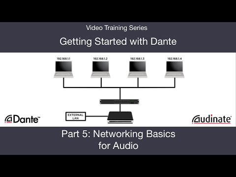 Getting Started with Dante: 5. Networking Basics for Audio