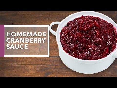 How to Make Cranberry Sauce | Holiday Dinner Recipes