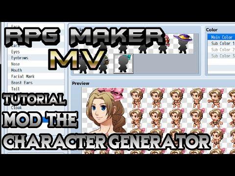 RPG Maker MV Tutorial: Mod The Character Generator!