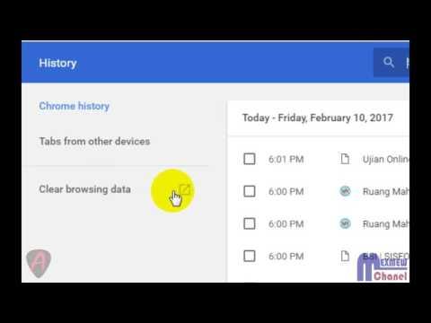 Cara Membersihkan Cache, Cookie dan History Google Chrome sekaligus