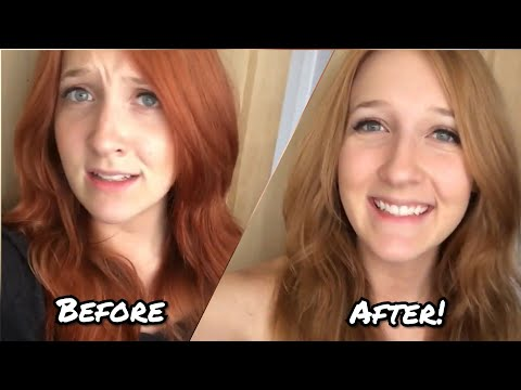 Removing/Fading Red Hair Dye At Home!