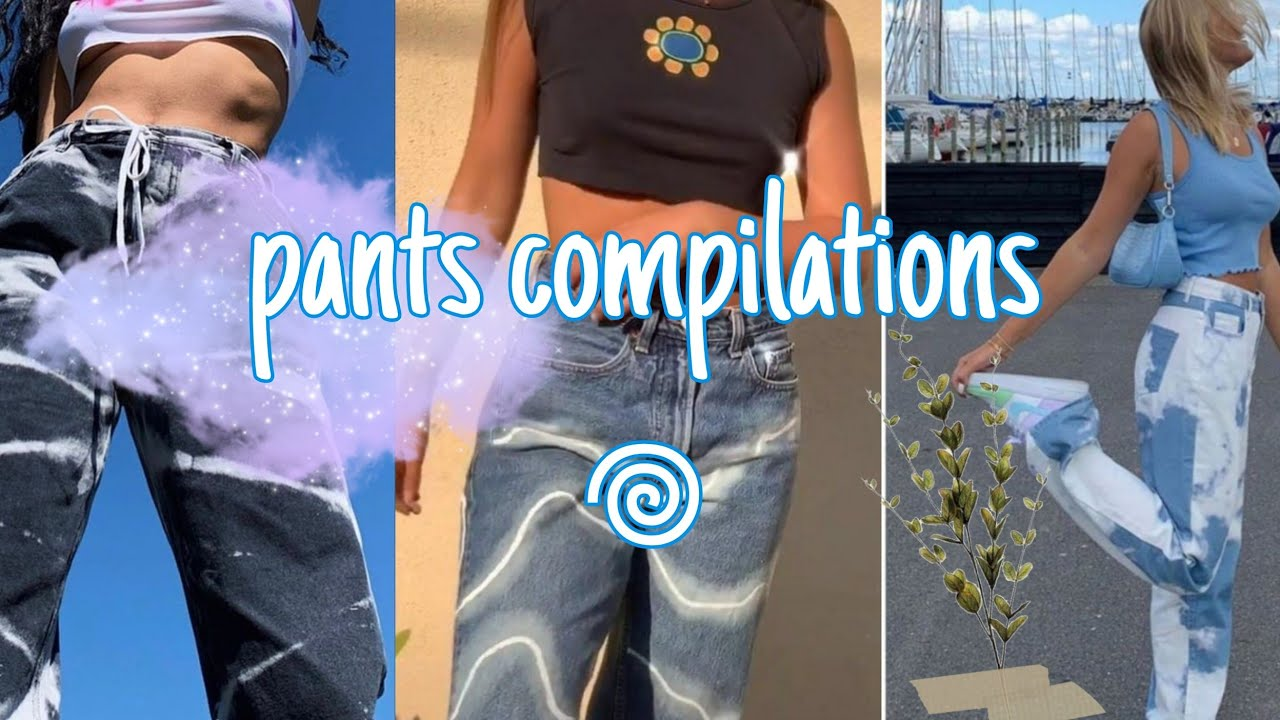 🔥thrift flip jeans tiktok⁂☘︎best diys on jeans compilations#DIY5